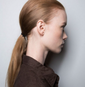 SS17 Lanvin - the low ponytail